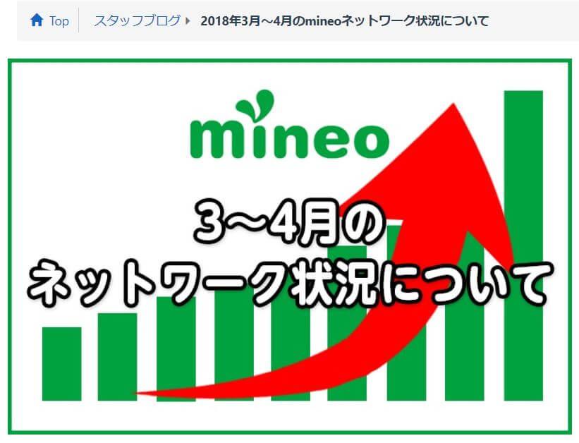 mineoネットワーク状況